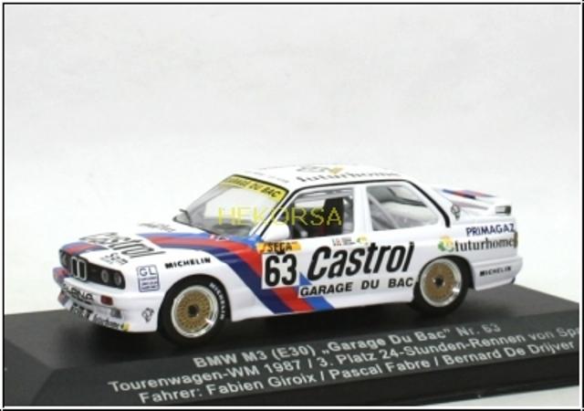 63 garage du bac bmw m3 1987 1 43rd scale slot car decals