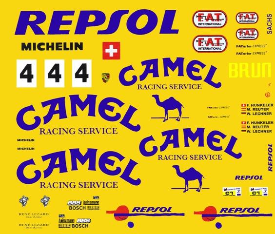 4 Camel Porsche 962 C 1 43rd Scale Slot Car Decals Ebay